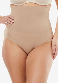 Seamless High Waist Brief , NUDE