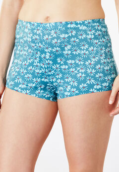 No-Show Boyshort by Comfort Choice®, DEEP LAGOON FLORAL