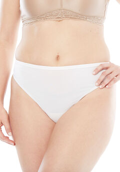 Microfiber Thong by Comfort Choice®, WHITE