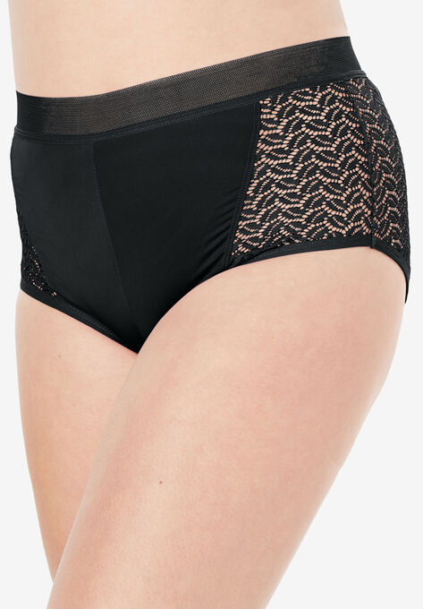 31fcb22cc Microfiber Lace Sides Hipster Panty by Comfort Choice®