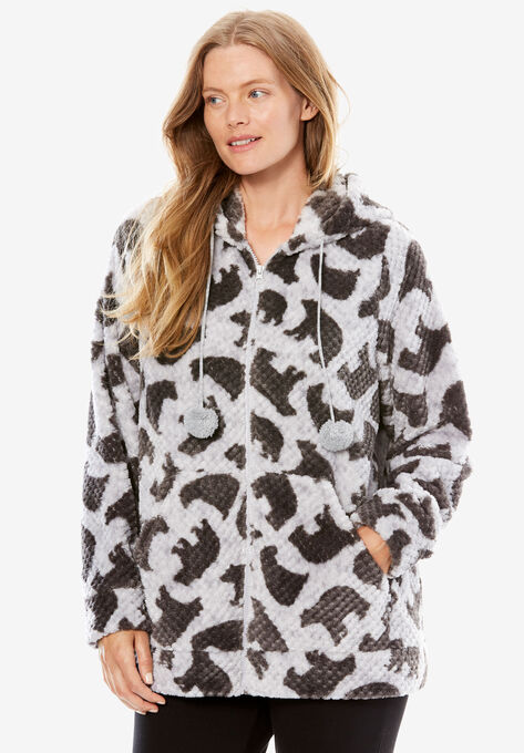 25d2eff2c3b Plush Hooded Bed Jacket by Dreams   Co.®