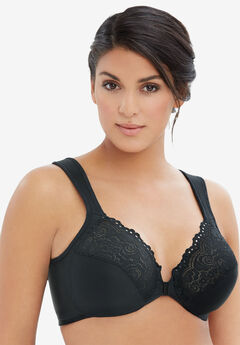Glamorise® Wonderwire® Front-Close Underwire Bra #1245, BLACK