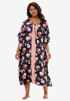 The Late-Night Caftan by Dreams & Co®, SMALL MULTI FLORAL, hi-res