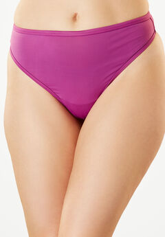 Microfiber Thong by Comfort Choice®, FRESH BERRY, hi-res