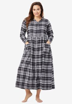 Flannel Plaid Lounger by Only Necessities®, BLACK PLAID
