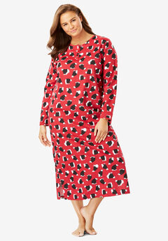 Holiday Print Sleepshirt by Dreams & Co.®, CLASSIC RED POLAR BEAR