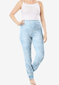 Thermal Lounge Pant , PASTEL BLUE ANIMAL