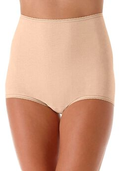 Cool cotton shaping stretch brief by Bali®, MOCHA MIST