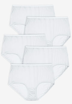 5-Pack Nylon Full-Cut Brief by Comfort Choice®, WHITE PACK
