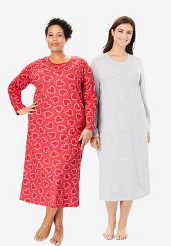 Long-Sleeve Sleepshirt 2-Pack by Dreams & Co.®,
