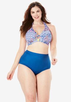 Underwire Halter Bikini Top, DREAM BLUE PAISLEY