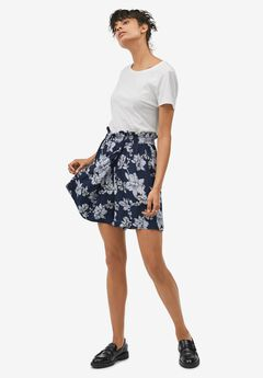 Pull-On Paperbag Waist Skort by ellos®,