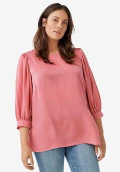 Blouson Sleeve Sateen Tunic by ellos®,