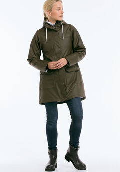Sherpa Lined Hooded Raincoat by ellos®,