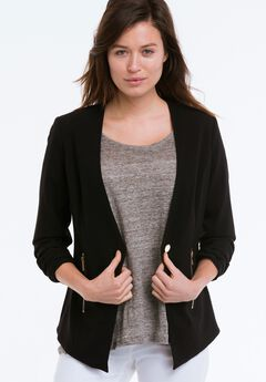 Zip Pocket Blazer by ellos®, BLACK, hi-res