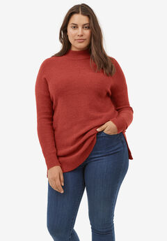 Mockneck Tunic Sweater,