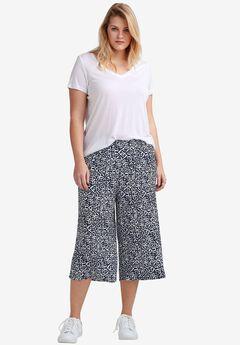 Cropped Soft Wide Leg Pants by ellos®,