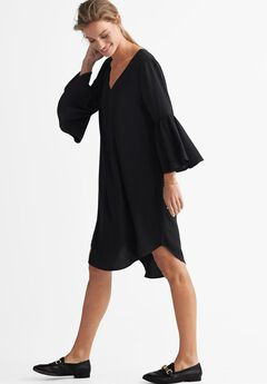 Flounce Sleeve A-Line Dress by ellos®,