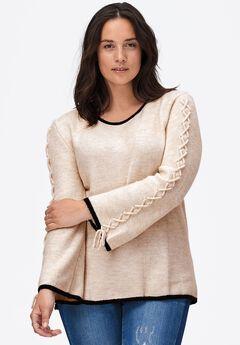 Braided Sleeve Sweater by ellos®,