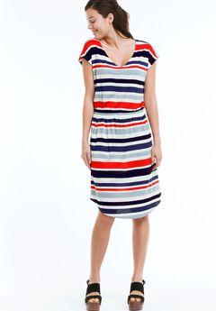 Stella Knit Dress by ellos®, MULTI STRIPE, hi-res