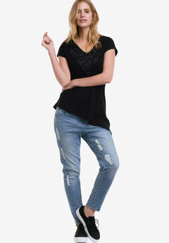 Asymmetrical Sequin Tee by ellos®,