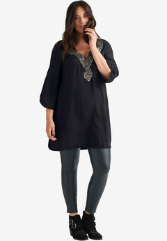 Embellished Cherry Tunic by ellos®, BLACK, hi-res