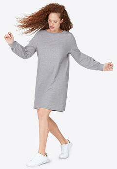 Blouson Sleeve French Terry Dress by ellos®,