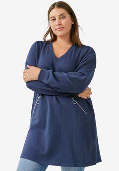 Zip-Pocket Sweatshirt,