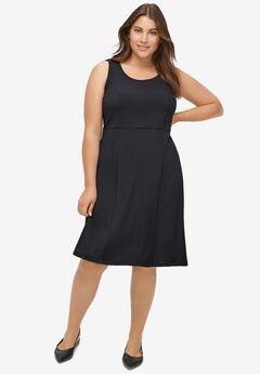 Fit and Flare Knit Dress,