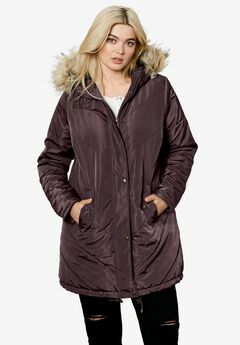 Faux Fur Hooded Parka by ellos®,