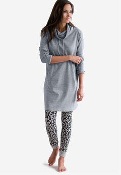 Drawstring Funnel Neck Sleepshirt by ellos®,