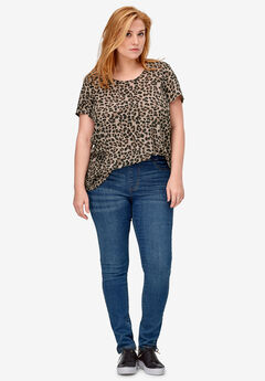 Pleat Back Tunic by ellos®, ANIMAL PRINT
