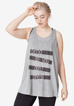 Graphic Racer-back Tank by ellos®,