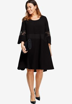 A-Line Lace Dress by ellos®, BLACK, hi-res