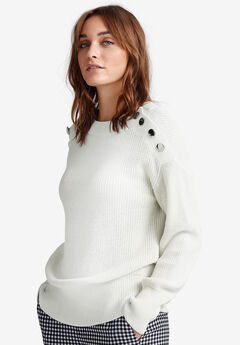 Shoulder-Button Sweater by ellos®,