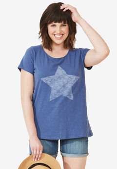Love Ellos Tee by ellos®, ROYAL NAVY STAR, hi-res