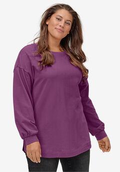 Blouson Sleeve Sweatshirt Tunic,