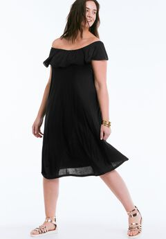 Havana Knit Dress by ellos®, BLACK, hi-res