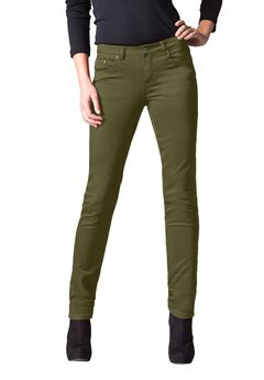 Straight Leg Twill Pants by ellos®, DARK BASIL, hi-res