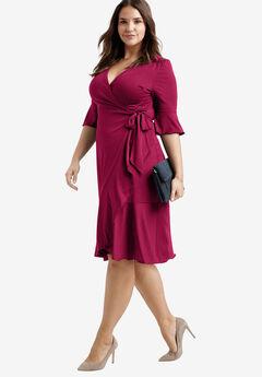 Ruffle Wrap Dress by ellos®,