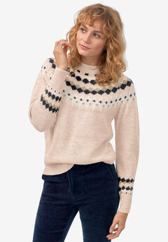 Fair Isle Pullover Sweater by ellos®,