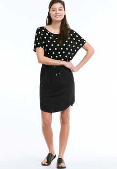 Shirttail Hem Skirt by ellos®, BLACK, hi-res