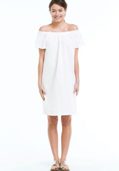 Eyelet Dress by Ellos®, WHITE, hi-res