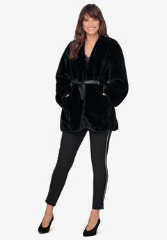 Tie-Front Faux-Fur Coat by ellos®,