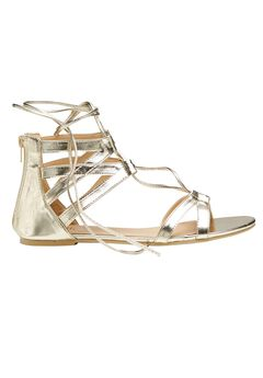 Gold Metallic Gladiators by ellos®, GOLD, hi-res