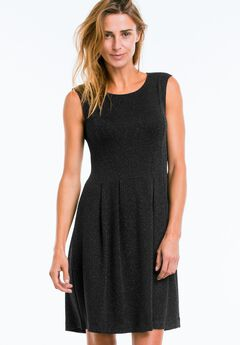 Fit & Flare Glitter Knit Dress by ellos®,