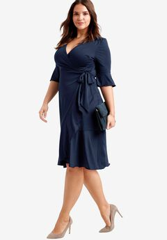 Ruffle Wrap Dress by ellos®,