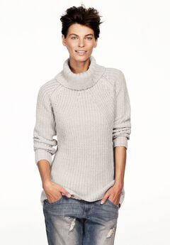 High/low Turtleneck Sweater by ellos®,