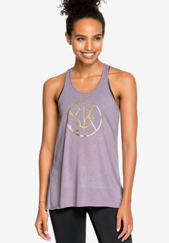 Racerback Screen Print Tank by ellos®,