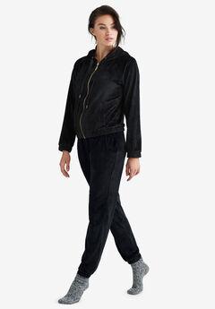 Velour Jogger Pants by ellos®, BLACK